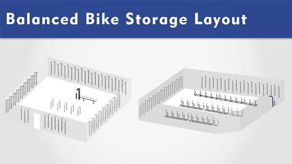 Balanced Bike Storage Layout