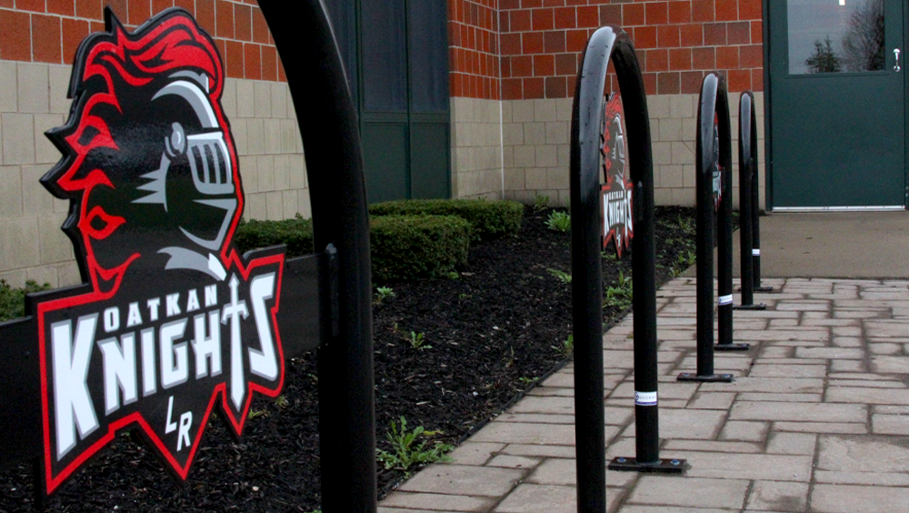 Custom-Logo-Bike-Racks-Le-Roy-Jr-Sr-High