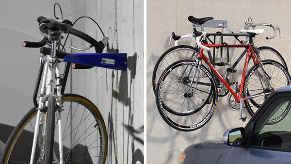 Horizontal Wall Bike Storage Racks