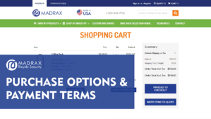 Madrax Purchase Options and Payment Terms