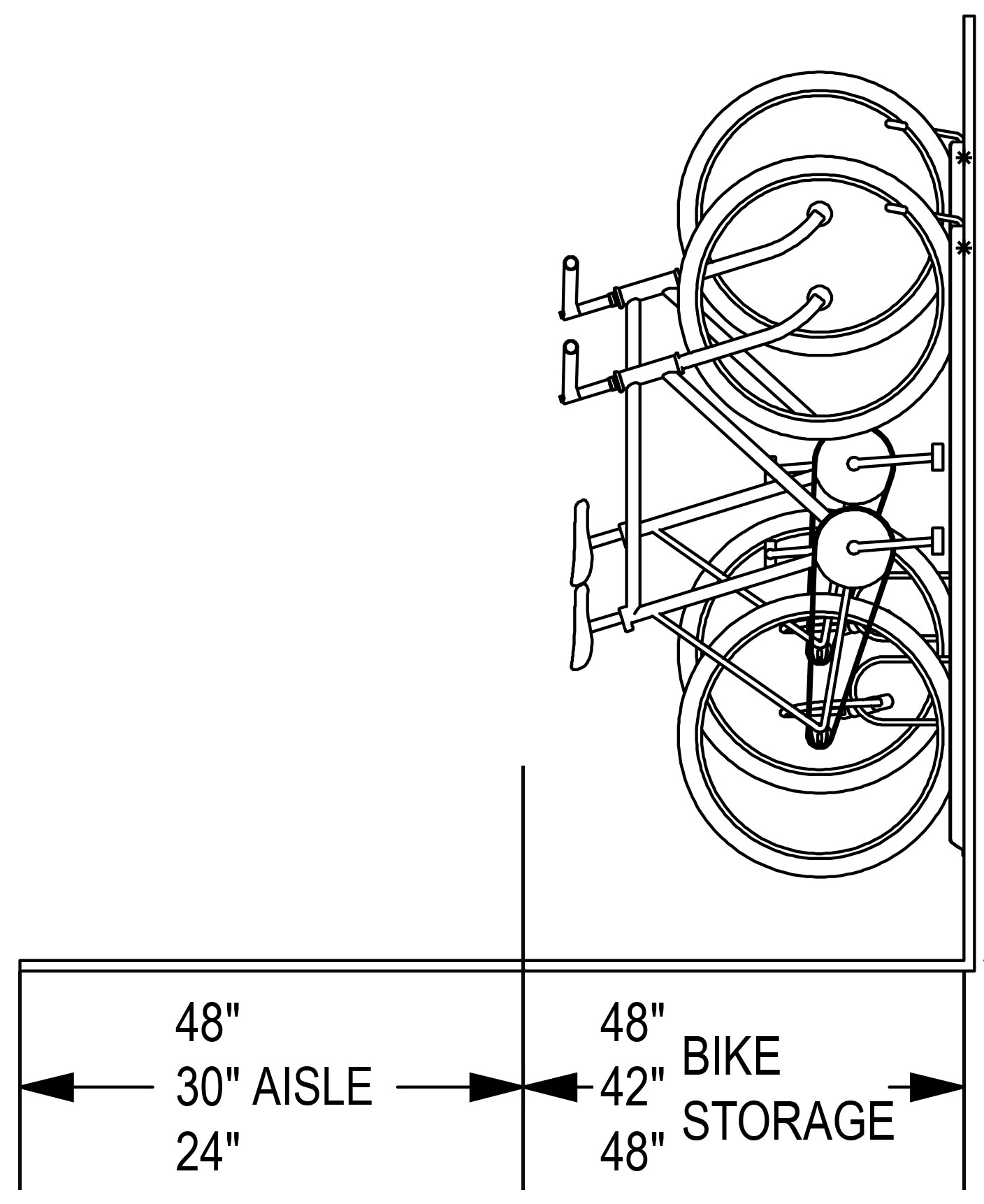 Madrax-Vertical-Bike-Storage-Vertical-View