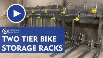 Two Tier Bike Storage Racks Video Still Image 3
