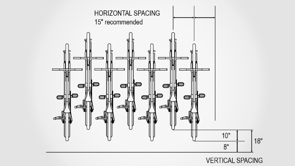 Vertical Bike Rack Spacing Dimensions